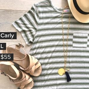 🆕 Lularoe Carly Dress 💙 stripes